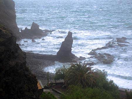 Blick auf den Strand Playa La Caleta