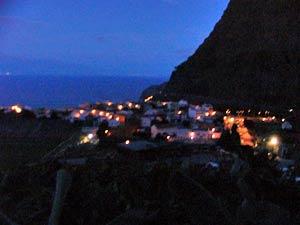 Agulo bei Nacht, La Gomera