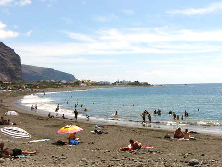 Strand in La Playa, La Gomera